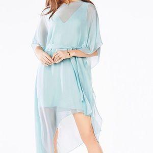 Bcbgmaxria Suzy aqua dress sheer xs